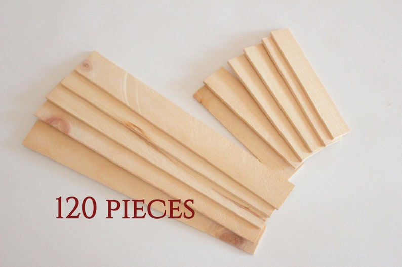 Lot 120 Pieces Blank Wood Wood For Craft Wood Scraps Wooden Craft Supply Unfinished Wood Plaques Diy Wooden Plaques Rectangle Wood