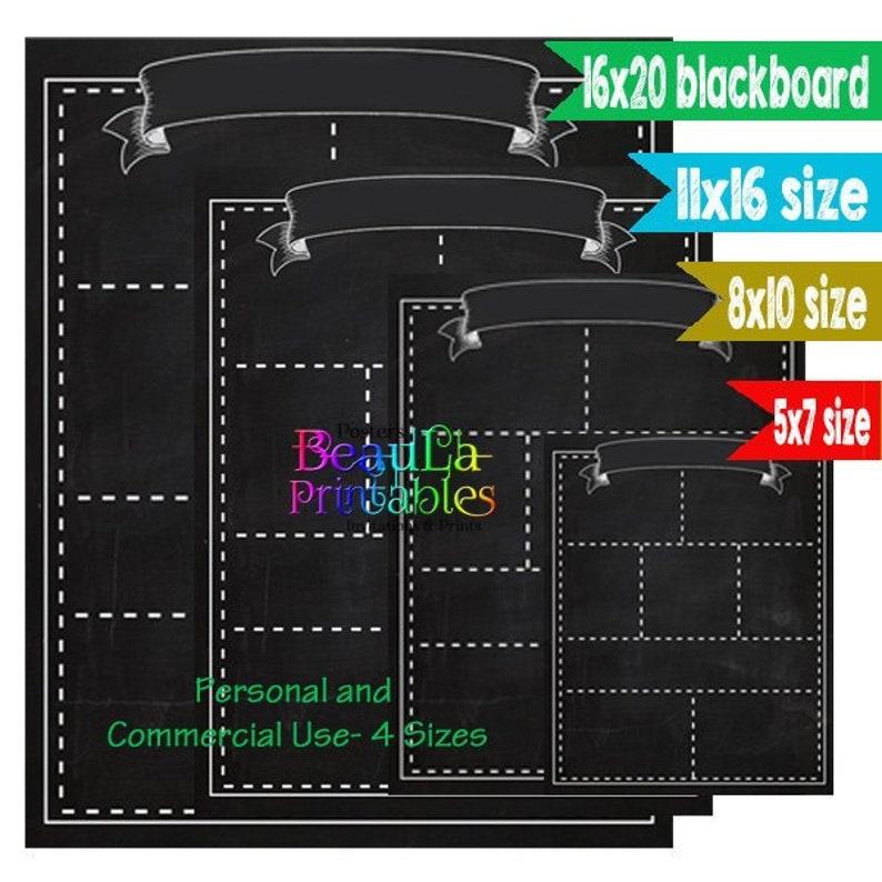 graphic regarding Chalkboard Stencils Printable named Blank Blackboard Printable - Blank Chalkboard Template - Blank Blackboard Printable - Blank Chalkboard Do it yourself Printable - Fast Down load