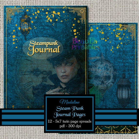 Vintage Steam Punk Journal - Printable Journal Kit