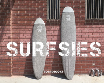 SURFBOARD SOCK-Light Grey-Custom to fit your surfboard