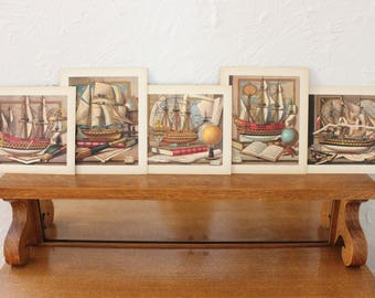 Model Ship Prints, Set of Five