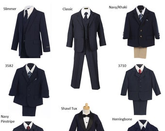 591bf37eb Boys & Toddlers Navy Suits - A Selection of Formal Suits for RIng Bearers