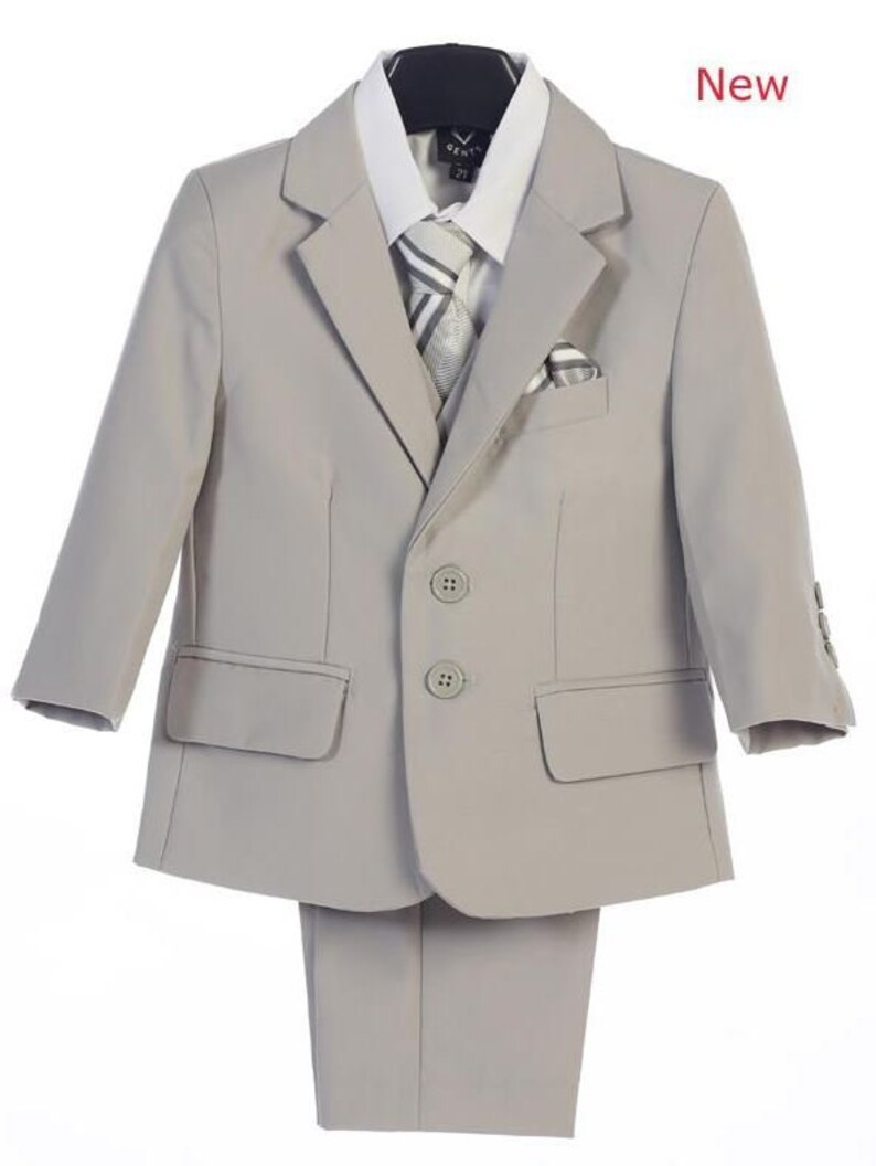 f06557700bc7e Premium Boys Grey Suit Wedding Outfit for Boys Kids Formal