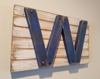"Chicago Cubs Wood Small ""Fly the W"" Wall Art"