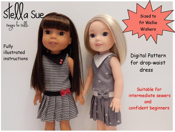 """18"""" doll play clothes -fits american girl #d004. In the hoop."""
