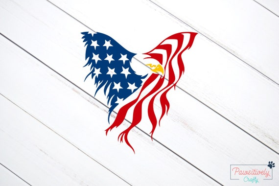American Flag Decal American Bald Eagle Stars And Stripes Etsy