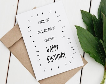 Rude Birthday Card | Funny Greeting Card | Happy Birthday Card | Printable Greeting Card | Digital Card | Birthday Card | Funny Card |