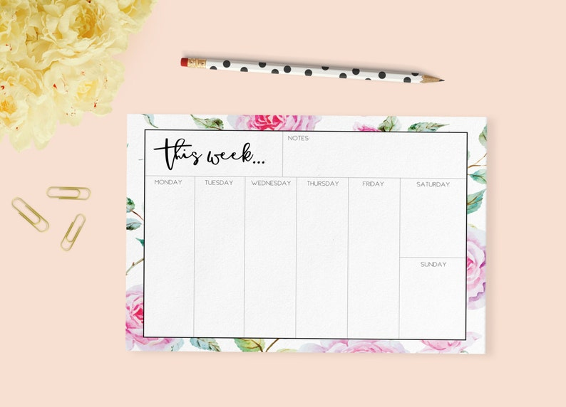 graphic about Printable Notepads referred to as Printable Weekly Planner, Weekly Planner Table Pad, Weekly notepad, Weekly Diary Print, Printable Notepads, Printable Diary, Stationery, Purple
