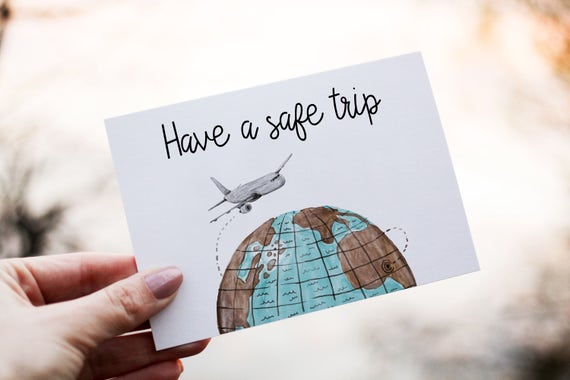 Have a safe trip card leaving card goodbye card printable m4hsunfo