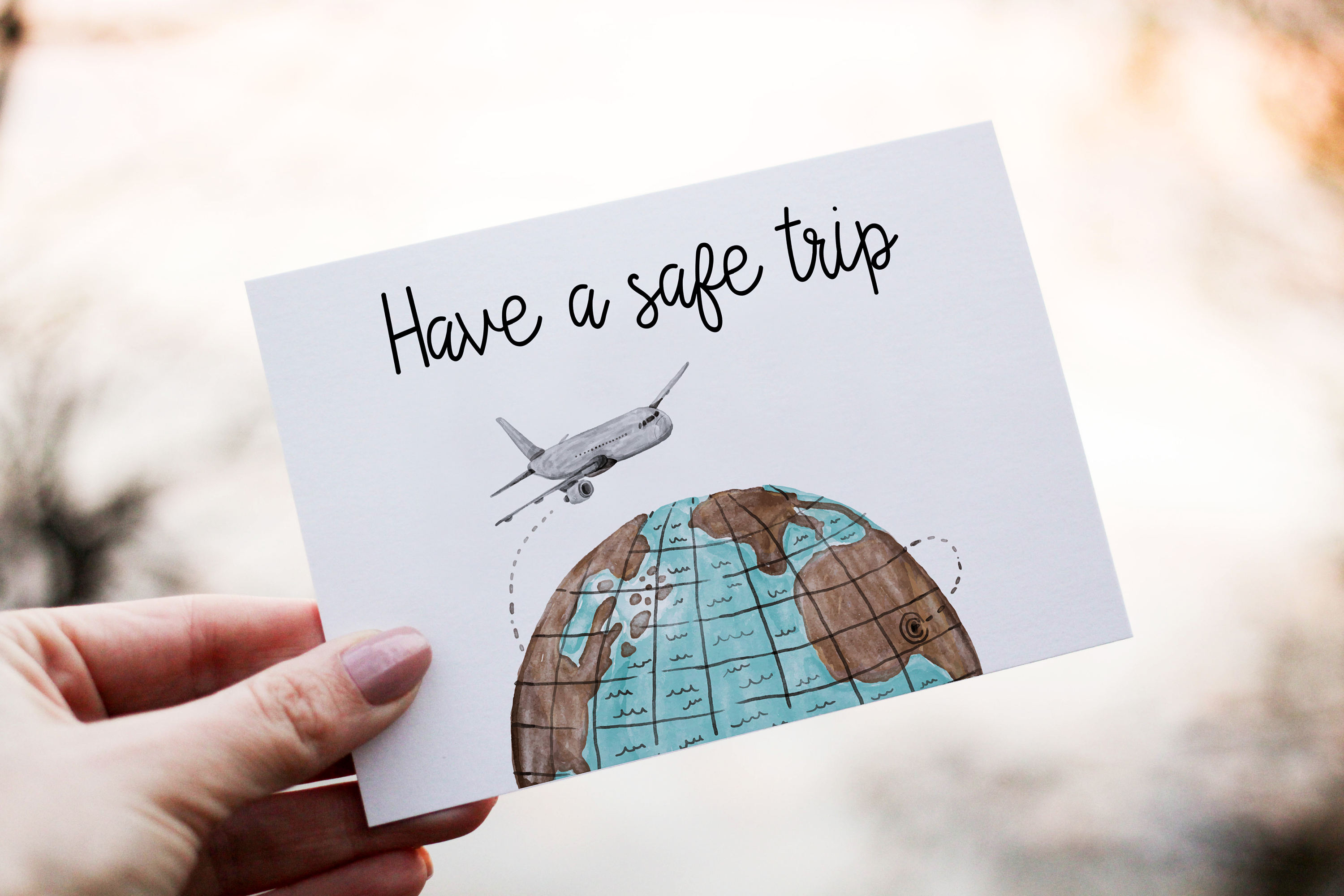 Have A Safe Trip Card Leaving Goodbye Printable