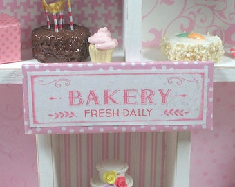 12th Scale Miniature Bakery Sign