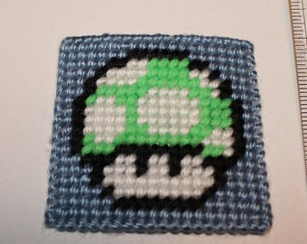 Handmade Plastic Canvas Nintendo Super Mario Brothers Bro Star 1-up Mushroom, question box Magnet (refrigerator fridge)