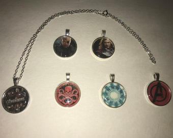 Marvel The Avengers Pendant necklace Thor A Hydra Fury Ironman