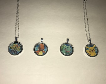 Pokemon Go Pendant necklace Charzard Squirtle Pikachu