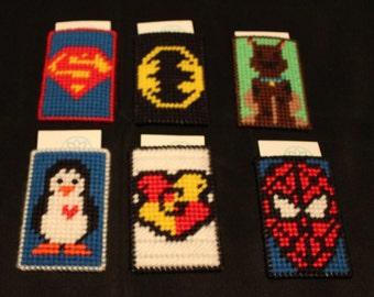 Handmade Plastic Canvas Many varieties superhero, power ranger, harry potter, superman, batman, minions, spiderman Gift Card Holder