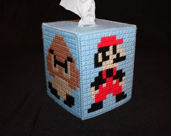 Nintendo Super Mario Bros Brothers Mushroom Tissue Box Cover