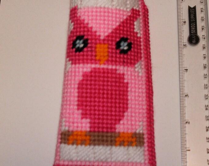 Plastic Canvas owls eye glasses/pencil case