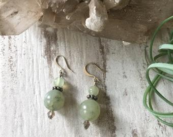 Jade Crystal Earrings