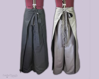 Reversible Wrap Pants with Pockets, LARP Costume, Festival Pants, Unisex Yoga Pants, Made to Order in Custom Size and Colours