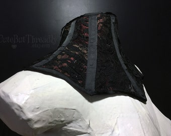 Black and Red Neck Corset - Posture Collar