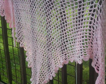 Delicate Pink Shawl