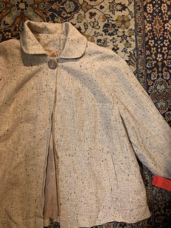 Nubby salt and pepper 1950s swing coat