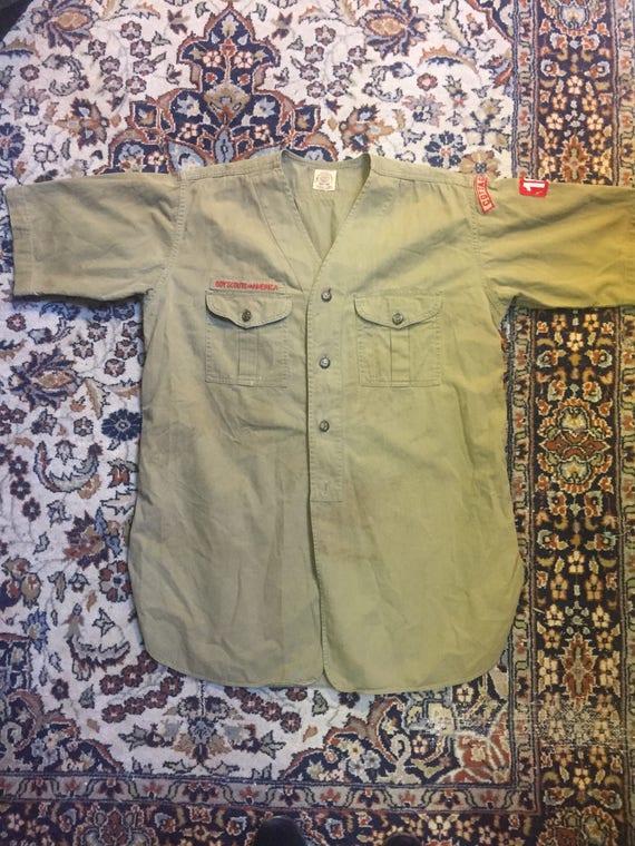 1930s Boy Scouts of America button-up uniform shir