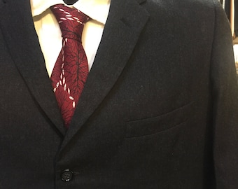 Dapper Three Button Charcoal Gray Suit of the 1960s