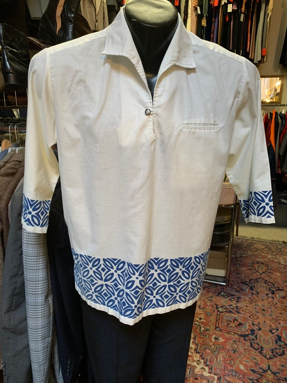 Tiki Top! Fantastic tiki shirt of the 1960s!