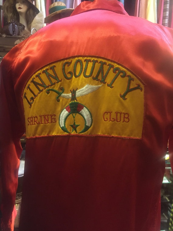 Linn County Shrine Club Embroiderd Patch Satin Shi