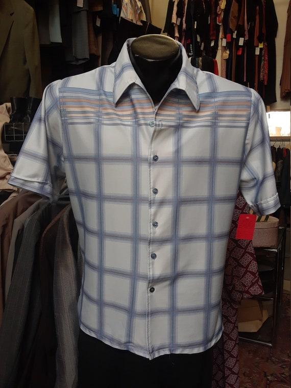 Vintage 1970s XL Short-Sleeve Button-Up Shirt