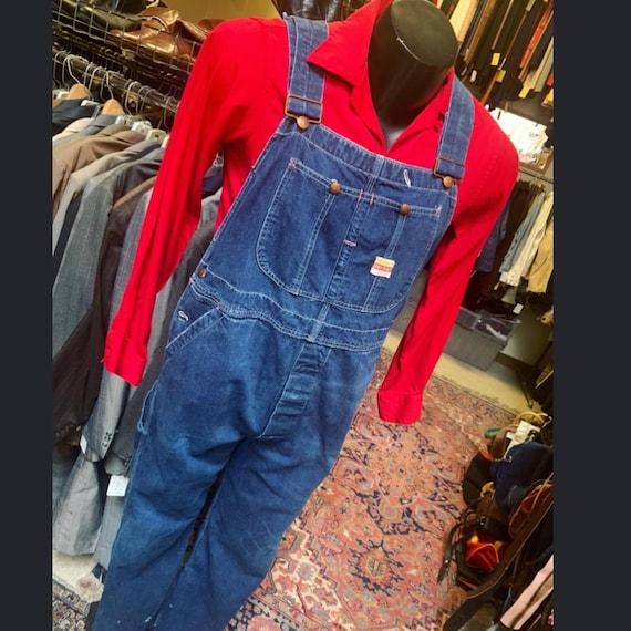 1950s era Penney's indigo denim overalls