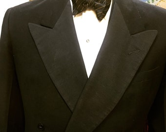 Dapper 1940s Tuxedo with Spectacular 1940s Suspenders men's formal wear