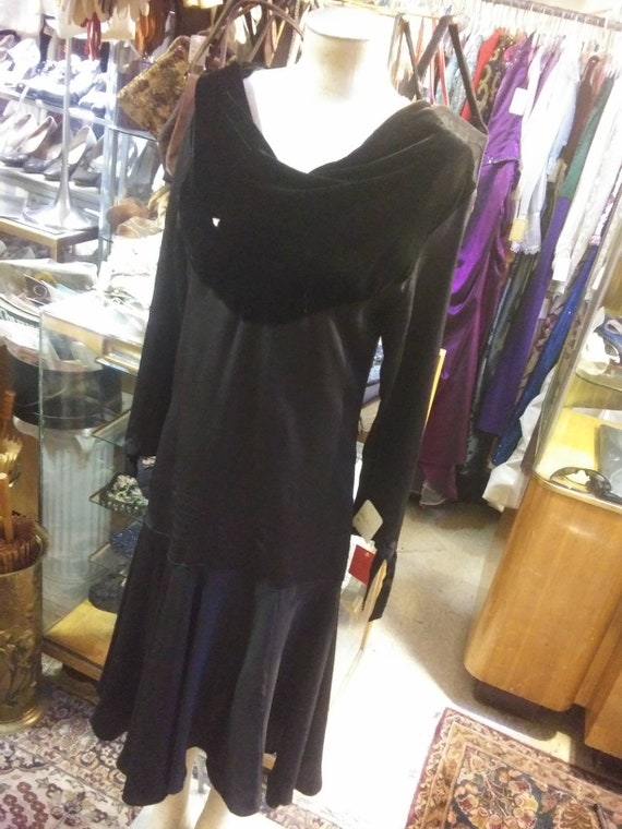 Inky Black Day Dress of the late 1920s
