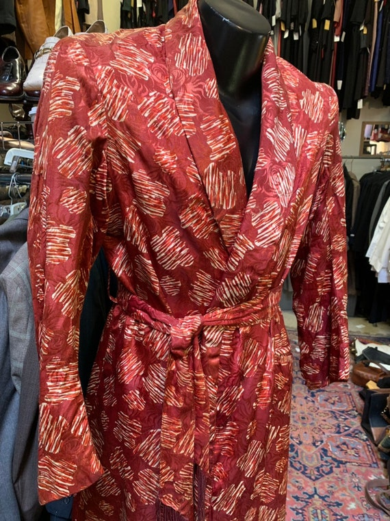 Wonderful rust-colored robe of the 1930s