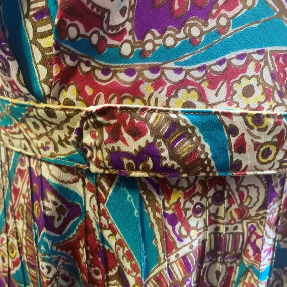 Most adorable silk puff sleeve colorful print dre… - image 3