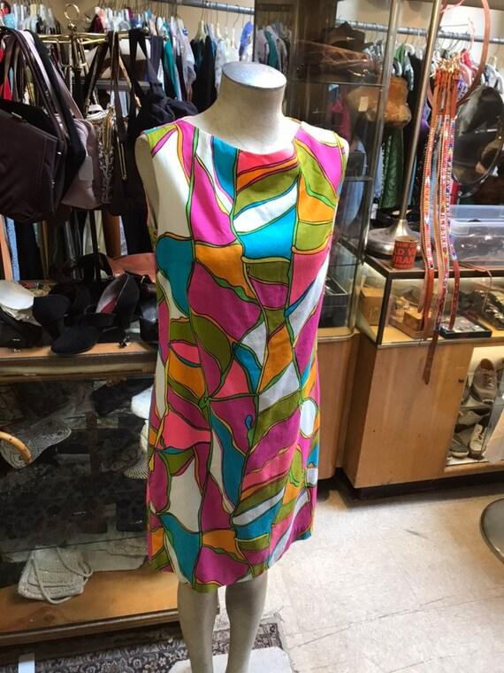 1960's Mod A Line Dress