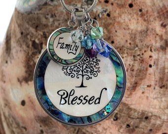 Blessed Necklace, Mother of pearl & Abalone Shell