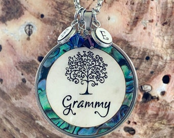 Grammy Necklace, Mother of pearl & Abalone Shell