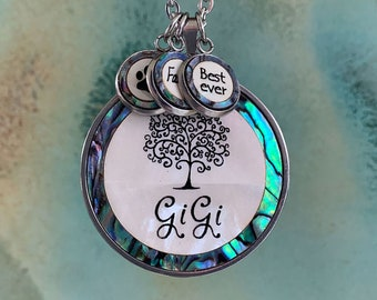 Gigi Necklace, Mother of pearl & Abalone Shell