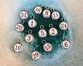 numbers, sport numbers, Curlz, 8mm, Clay Hope Jewelry, Clay Hope