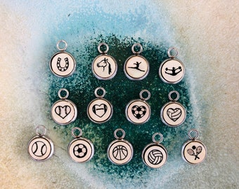 Sport Charms, 8mm, add-on, Clay Hope Jewelry, Clay Hope