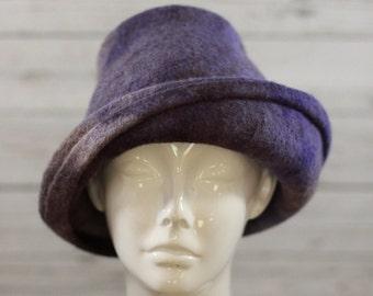 "Hat ""Provence Lavender""-Felted Hat-100% Wool"