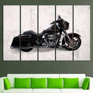 Harley Davidson Wall Art Harley Davidson Wall Decor Harley Davidson Canvas Motorbike Wall Art Motorcycle Canvas Motorcycle Decor Harley Art