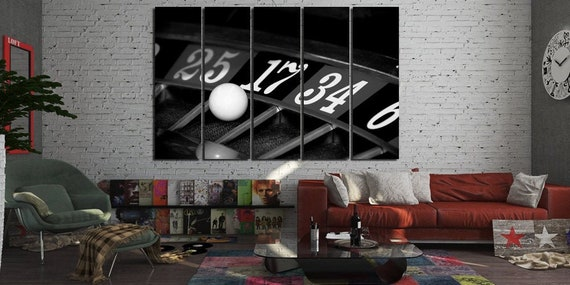 Wall Art Home Decor Poster Casino Roulette Wheel Ball Hits Art//Canvas Print