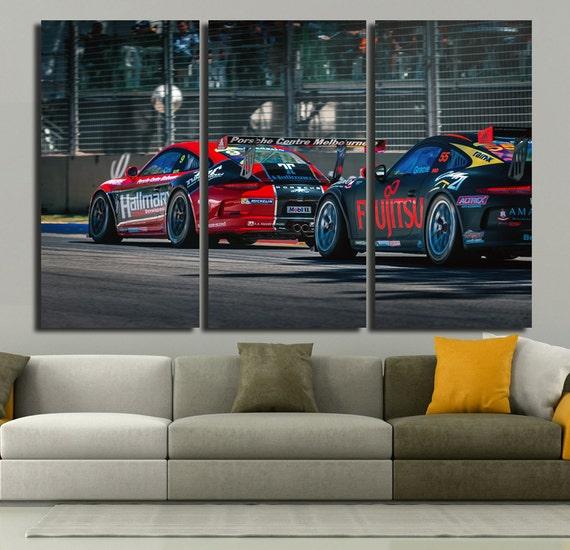 Porsche Rally Wall Art Multi Panels Set Muscle Car Wall Art | Etsy