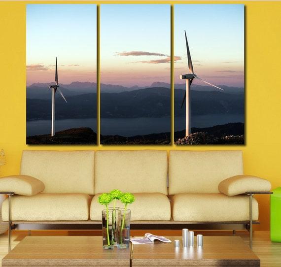 Wind Turbine Wall Art Turbine wall decor Engine Wall Art