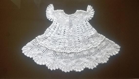 baby dress knitting christening crochet baptism baby dress   Etsy