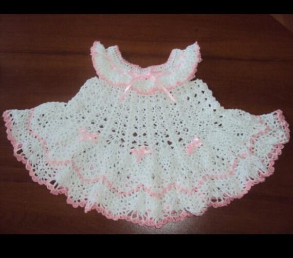 Häkeln Sie Babykleid Baby Mädchenkleider Taufe Kleid Mädchen Etsy