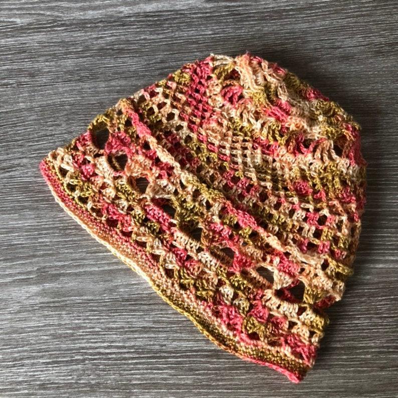 multicolor boho hat for women lace crochet mandala hat Womens hippie crochet hat cotton hat ladies summer hats summer beanie hat